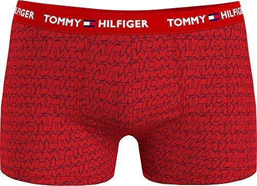 Tommy Hilfiger Herren Trunk Print Badehose, Tommy/Overlap/AOP, M