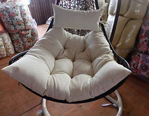 Colgando huevo Hamaca Silla Cojines, Columpio asiento del cojín del multicolor que cuelga Nido trasero de la silla con la almohadilla extraíble Tapa-un 80x85x65cm (31x33x26inch), Tamaño: 80x85x65cm (3