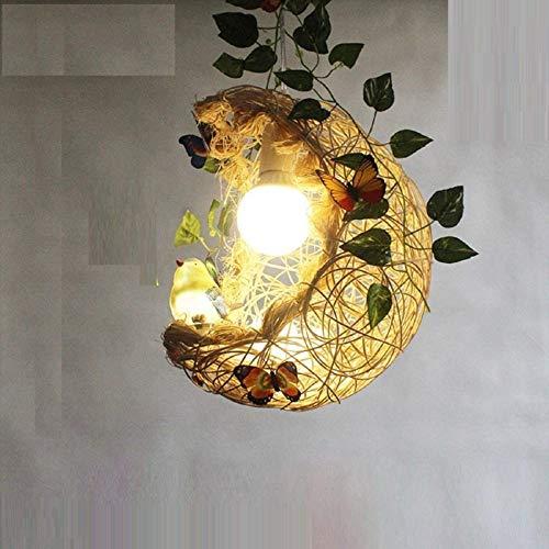 ZHLFDC La jaula de pájaro de la lámpara, la lámpara de la luna, E27 Fuente de luz, lámpara de fuente de luz LED dormitorio, el comedor y la decoración del hogar Otros Lámparas, luces de techo,