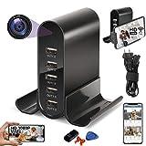Spy Camera Wireless Hidden, 5 USB Hidden Spy Camera Charger Full HD 1080P with Live Feed WiFi, Spy Hidden Nanny Cam, Motion Detection Spycam Camaras Espias, Secret Surveillance Camera Video Recorder