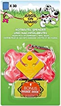 Bags on Board Dog Poop Bags Dispenser with 30 Refill Bags   Bone Design Attaches to Most Leashes