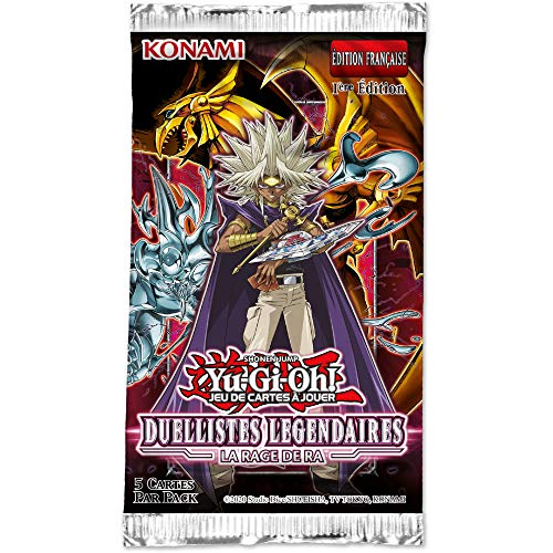 YU-Gi-Oh! Booster de 5 Cartes : Duellistes Légendaires «La Rage de Ra» - Version Francaise - LED7