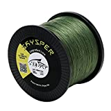 SKYSPER Upgraded Braided Fishing Line 10LB 15LB 20LB 30LB 60LB 80LB 100LB 1093 Yard PE 4 Strands Super Strong Fishing Line - Abrasion Resistant, Low Memory, Zero Stretch