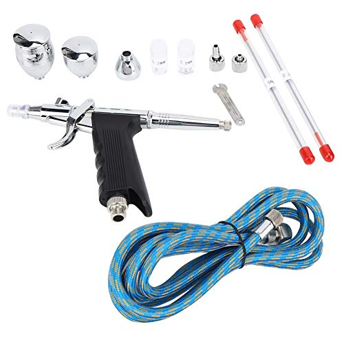 Spray Gun Set, Delaman Metalen Luchtborstel Gereedschap Spray Gun Set 2CC/7CC/10CC voor Model Kleurplaten Cake Decorating Spray Gun Set