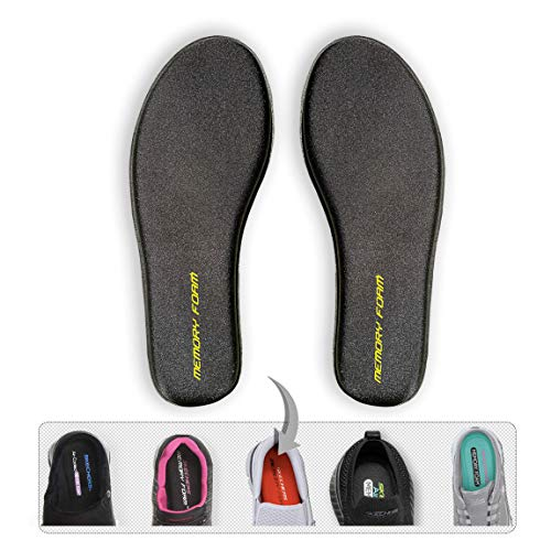 Memory-Foam Shoe-Inserts Insoles Inner-Soles - Men Sizes Innersoles Flat-Feet Arch-Support Shoe Pads Inlay-Soles Comfortable Plantar Fasciitis Metatarsal Replacement Slippers Work-Boots Foam Insoles