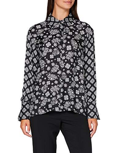 Marc O'Polo Damen 006113042351 Bluse, Mehrfarbig (Multi/Black L08), (Herstellergröße: 38)
