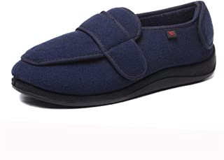 Chaussures orthopédiques diabétique for hommes Chaussons W arthrite Œdème réglable Fermeture en mousse à Maison Chaussures...