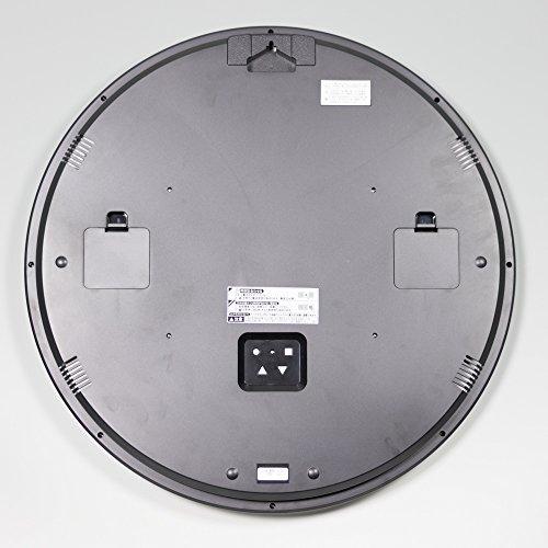 『セイコー クロック 掛け時計 電波 アナログ カレンダー 温度 湿度 表示 銀色 メタリック KX237S SEIKO』の3枚目の画像