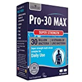 Natures Aid Pro-30 MAX, 30 Billion Live Bacteria, Daily, Super Strength, 60 Capsules