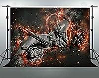 HD7x5ftモーター背景ソフトファブリックレトロなテーマパーティーのための強い背景YouTube写真ビデオスタジオ小道具部屋の壁画LHFS692