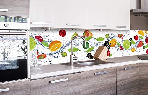 DIMEX LINE Küchenrückwand Folie selbstklebend Obst | Klebefolie - Dekofolie - Spritzschutz für Küche | Premium QUALITÄT - Made in EU | 260 x 60 cm