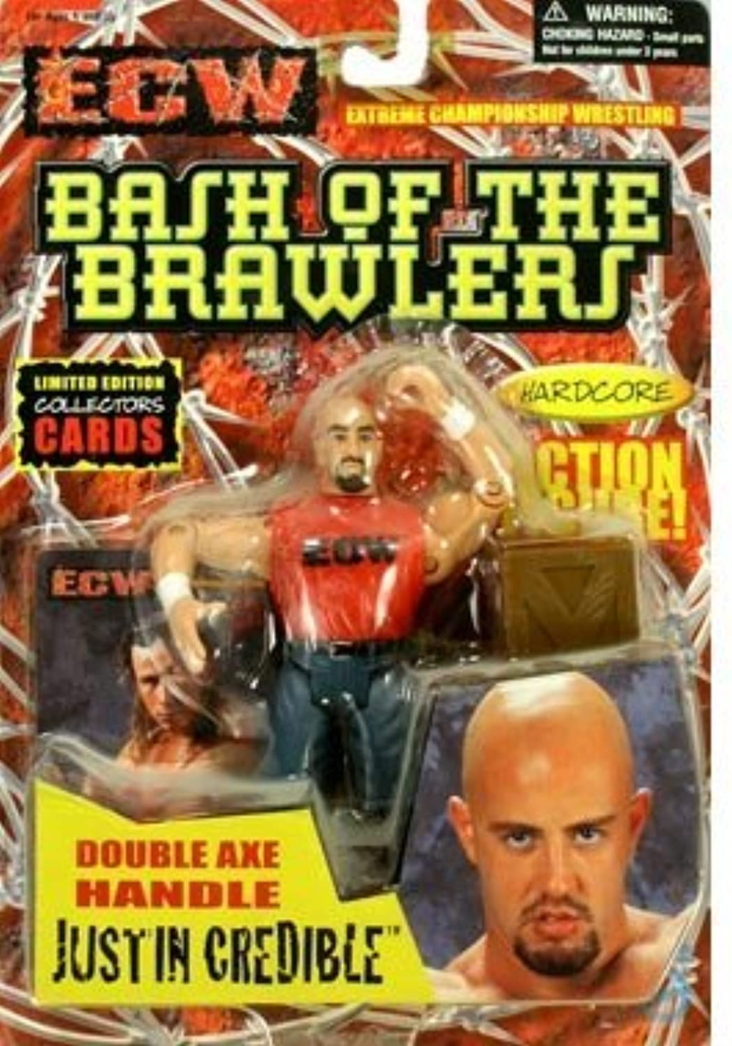 ECW Toymakers Action Figure Justin Crotible [rot Shirt] by ECW