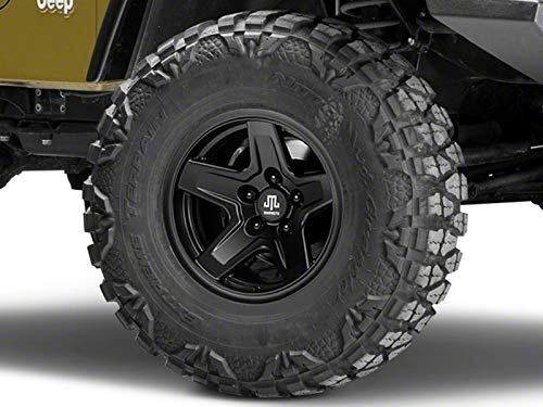 Mammoth Boulder Matte Black Wheel; 15x8 for Jeep Wrangler 1987-2006