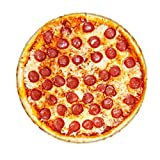 FNKDOR Creative Pizza Beidseitig Flanell Kuscheldecke 122x122cm Runde Wohndecke Familie Dekorativer Teppich Warm Babys Kinderdecke Sofadecke Mikrofaser Wolldecke H