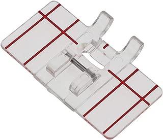 YOKOYAMA Border Guide Sewing Machine Presser Foot,Simple Mini Clear Plastic Parallel Stitch Foot Presser, for Multifunction Domestic Sewing Machine Parallel Stitch Sewing Tool