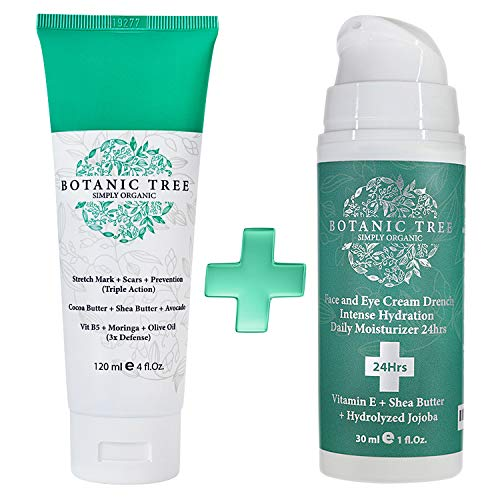 Stretch Mark Cream Removal-Decrease Stretch Marks in 93% of Customers in 2 Months-Helping Scars and Prevention-100% Organic Cocoa And Avocado-Buy1 And Get1 Drench Hydration(Limited Offer) Pack of 2