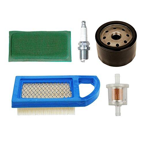 OxoxO 794421 697152 Luftvorfilter mit 492932S Ölfilter 691035 Kraftstofffilter Zündkerze für Briggs & Stratton Motoren