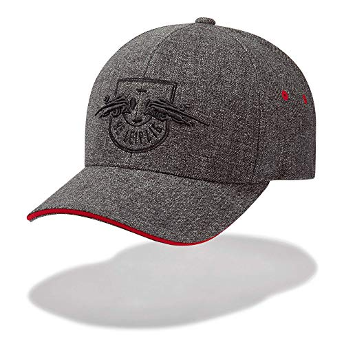 RB Leipzig Twill Cap, Gris Unisex One Size Kappe, RasenBallsport Leipzig Sponsored by Red Bull Original Bekleidung & Merchandise