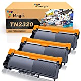 7Magic TN2320 Cartucho de Tóner Compatible para Brother TN2320 TN2310 para Brother HL-L2300D L2340DW L2360DN L2365DW DCP-L2500D L2520DW L2540DN MFC-L2700DW L2720DW L2740DW (Negro, 3 Pack)