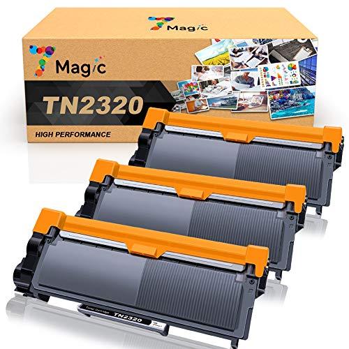 7Magic TN2320 Cartouche de Toner Compatible pour Brother TN-2320 TN2310 pour DCP-L2520DW DCP-L2500D MFC-L2700DW MFC-L2700DN MFC-L2720DW HL-L2340DW HL-L2300D HL-L2365DW (Noir, Pack de 3)
