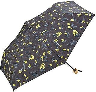 ワールドパーティー(Wpc.) 日傘 折りたたみ傘 黒 50cm レディース 傘袋付き T/C遮光エマズベリーズ ミニ 801-2560 BK