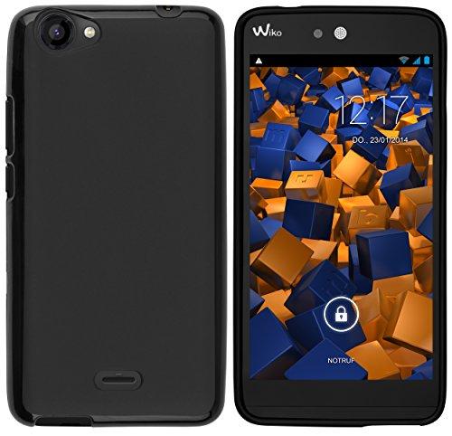 mumbi Hülle kompatibel mit Wiko Rainbow Handy Hülle Handyhülle, schwarz