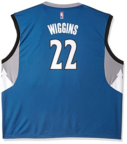 NBA Men's Minnesota Timberwolves Karl-Anthony Towns Replica Player Road Jersey, Large, Blue