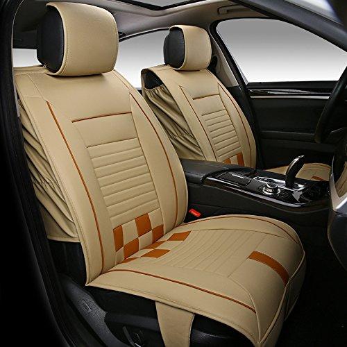 AMYMGLL Coussin de voiture Général Couverture en cuir anti-dérapants Deluxe (11Réglez) Edition Pad Universal Car Cover Four Seasons Universal 3 couleurs options , 2