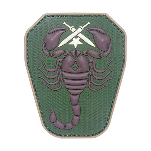Cobra Tactical Solutions 43 Skorpion/Scorpion Unit US Army PVC Patch Grün mit Klettverschluss für Airsoft Paintball