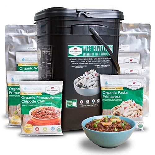 ReadyWise Emergency Food Supply, Organic Breakfast and Entree Variety, 90 Servings