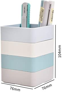 DKX Simple Pen Holder, ABS Resin Anti-Dirty, Durable Student Pencil Gel Pen Storage (Color : A)