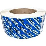 Sellos azules limpiados y desinfectados, 2 x 10 cm, 500 etiquetas totales
