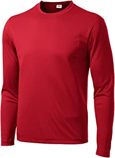 Men's Long Sleeve Moisture Wicking Athletic Shirts