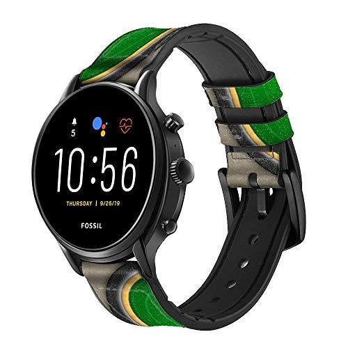 Innovedesire Poker Table Bracelet de Montre Intelligente en Cuir et Silicone pour Fossil Wristwatch Taille (20mm)