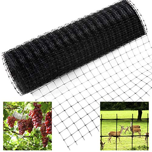 GREENWISH 1 7ftx100ft, Heavy Duty, net and Fencing Berry Plant Cover, Black