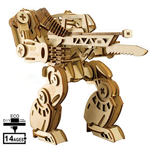 3D Three-Dimensional Puzzle,Wooden Laser Cutting Model,Mechanical Warframe Puzzle Puzzle Toy Puzzles for Children Over 14