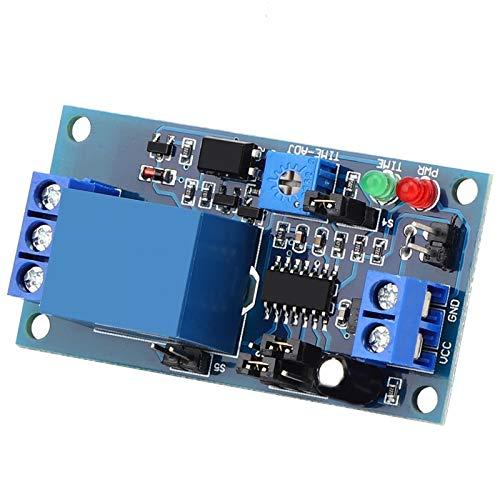Relé de retardo de disparo, ajuste de retardo Módulo electrónico Módulo de vibración Vibración para el hogar para sistemas de control de puertas para control automático de equipos