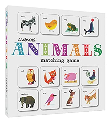Alain Grée Animals Matching Game: (Card Games for Children, Memory Games for Kids, Animal Flash Cards Matching Game)