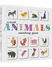 Alain GRE Animals Matching Game: Card Games for Children, Memory Games for Kids, Animal Flash Cards Matching Game