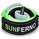 Sunferno Tree Saver Winch Strap 35,000 lbs Certified   Confidently Hook the Strap with your Winch   3 inch x 8 Foot   Heavy Duty Emergency Off-Road Towing and Recovery Rope Accessory for 4x4 and Truck