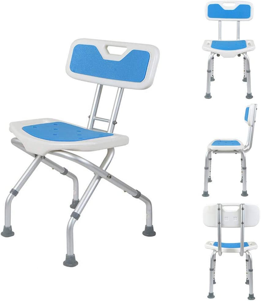 ZXY-NAN Max 46% OFF Bathroom Wheelchairs Foldable wi Compatible Shipping included Stool Shower