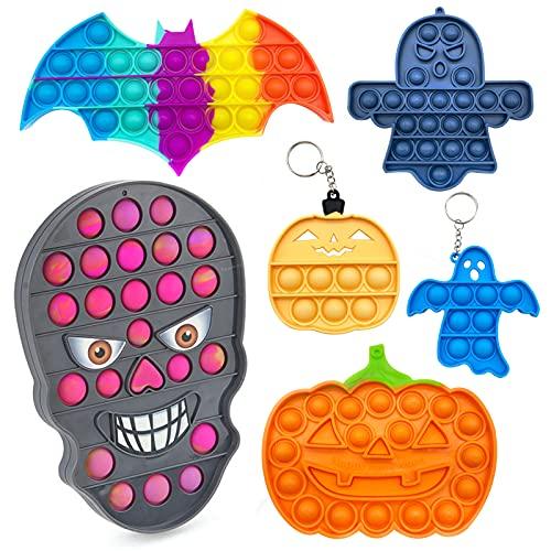 pop it zucca 6Pack Halloween Fidget Toy Poppit Set