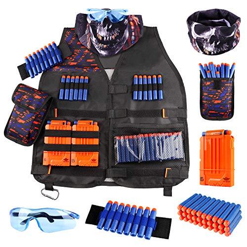 UWANTME Gilet Tattico per Nerf Pistola N-Strike Elite Serie Tactical Vest Kit Giocattoli Nerf Accessori per Bambini Ragazzi