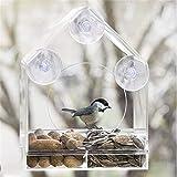 HAOT Comedero para pájaros Jaula para pájaros Transparente Nuevo comedero para pájaros con Clase para la Venta