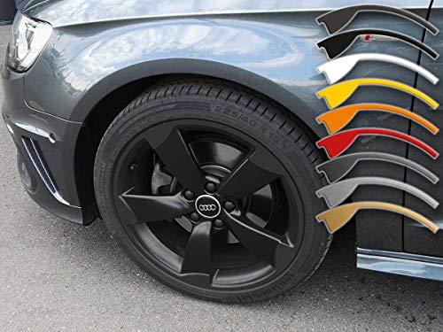8-9x19 Zoll Felgen-Aufkleber für A3 TT RS3 8P Audi 5-Arm Rotor Felgen Rim Decal (Mattschwarz)