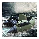SHENYF Barco de Pesca de k-a-y-a-k portátil Inflable de k-a-y-a-k Barco de Goma de Doble airbag Profesional Luya para el Deporte del Agua (Color : Green)