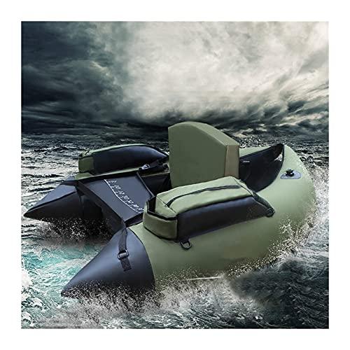 YUNJINGCHENMAN Barco de Pesca de k-a-y-a-k portátil Inflable de k-a-y-a-k Barco de Goma de Doble airbag Profesional Luya para el Deporte del Agua (Color : Green)