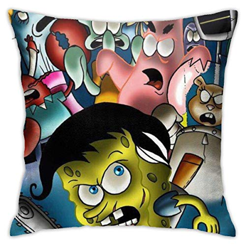 DJNGN 'S Halloween Party Throw Pillow Covers 18'X 18'Inch Square Shape Decorative Cushion Cover for Couch Sofa Pillow Set