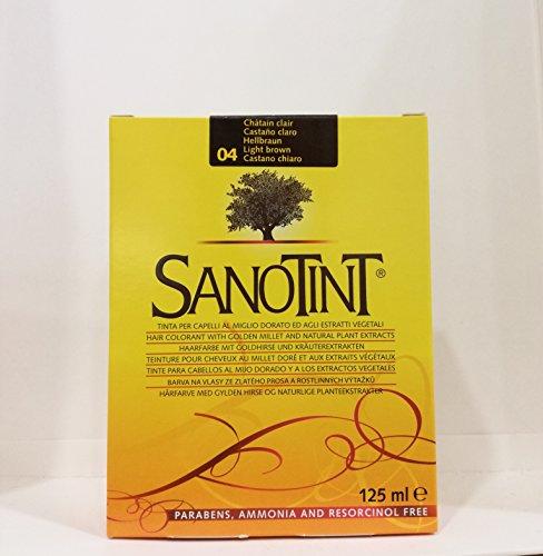 Teinture 04 CHATAIN CLAIR - Coloration naturelle Sanotint - Boite de 3 produits