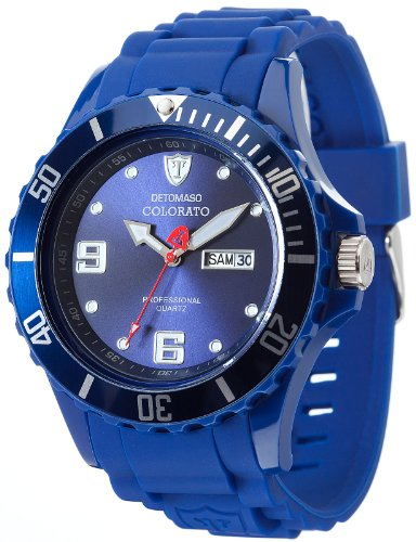 DeTomaso Colorato X-Large - Reloj analógico para Hombre, Correa de Silicona